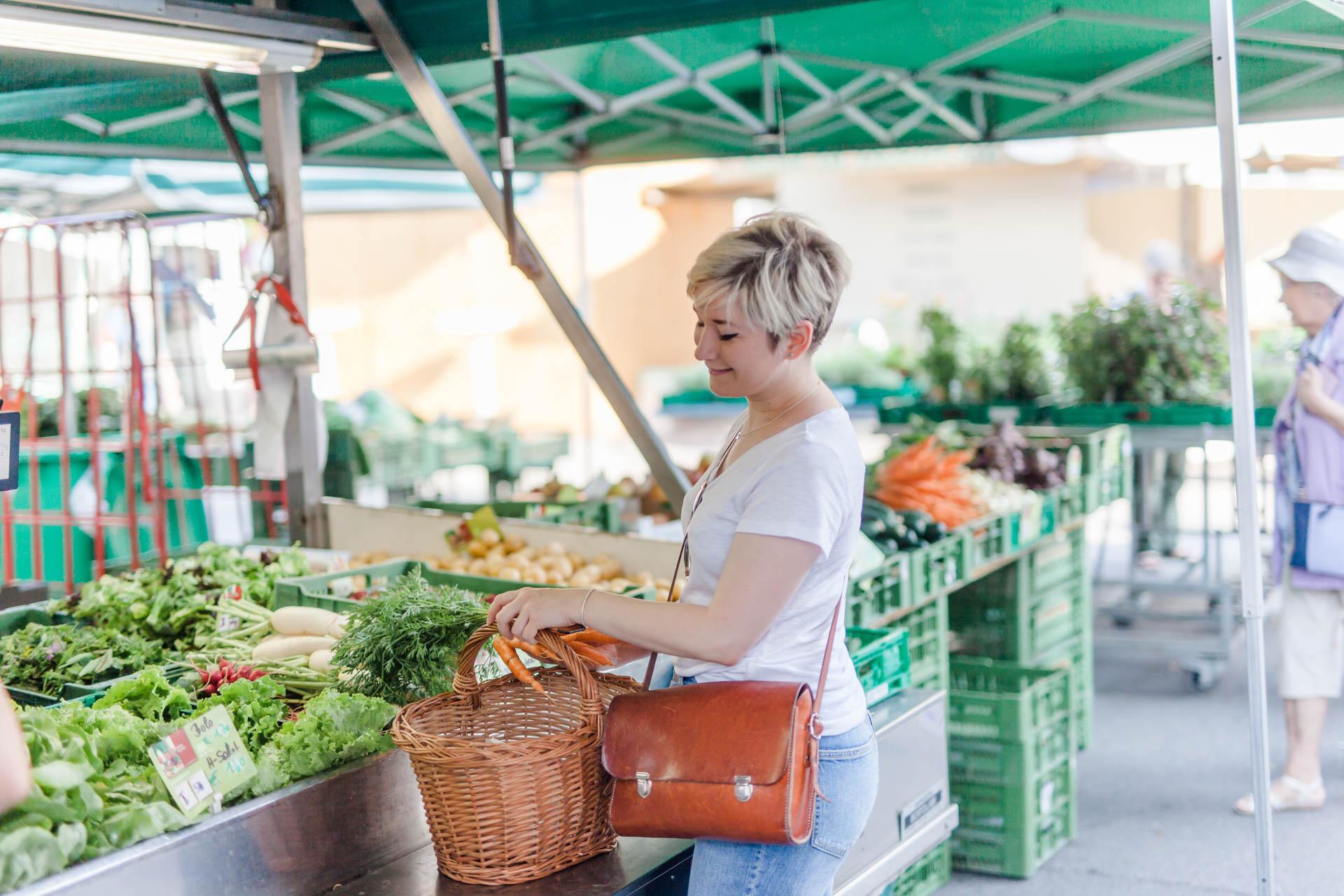 Besuch am Wochenmarkt