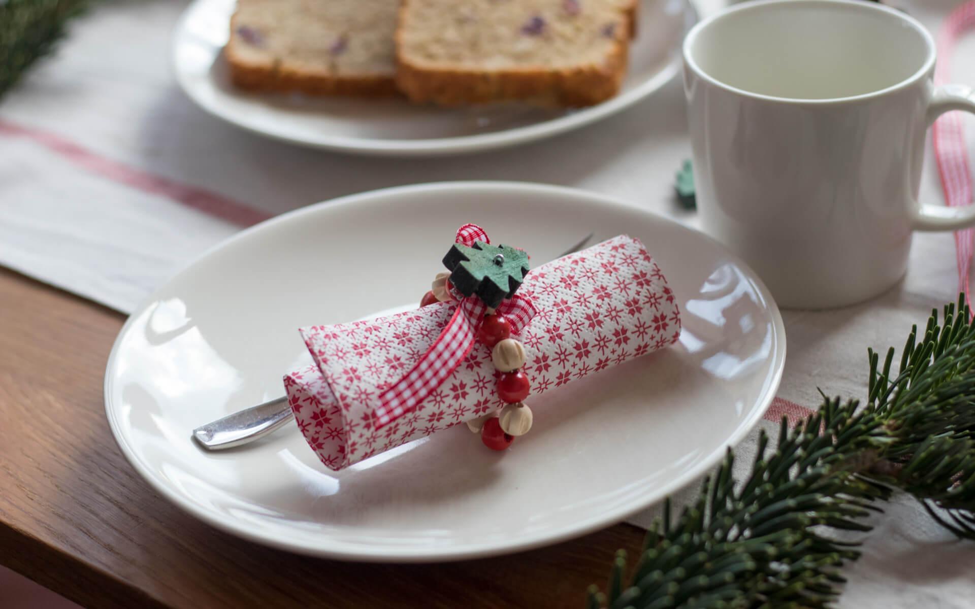 Weihnachtliche Serviettenringe selbstgemacht