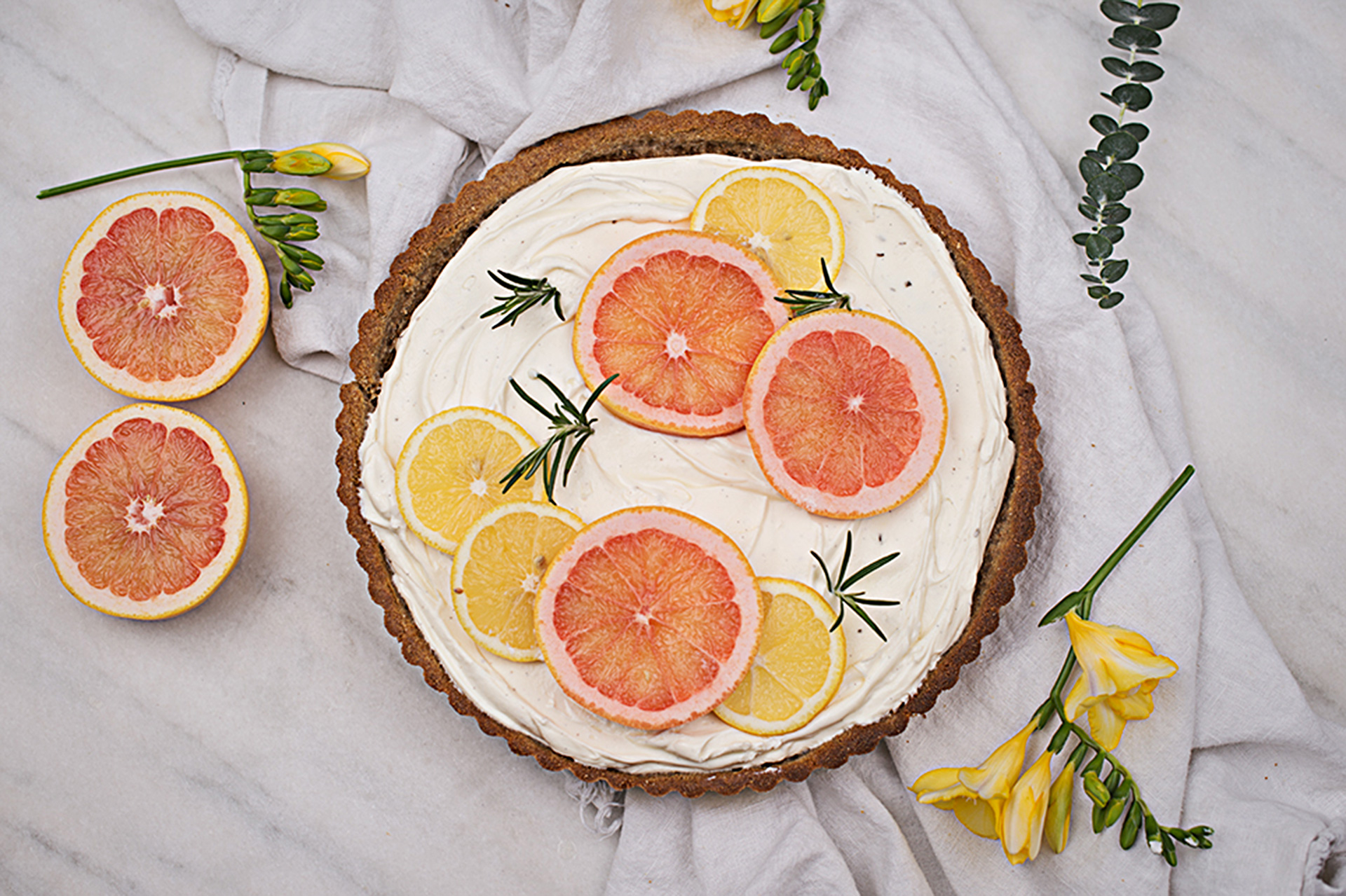 Knusprige Zitronen Tarte