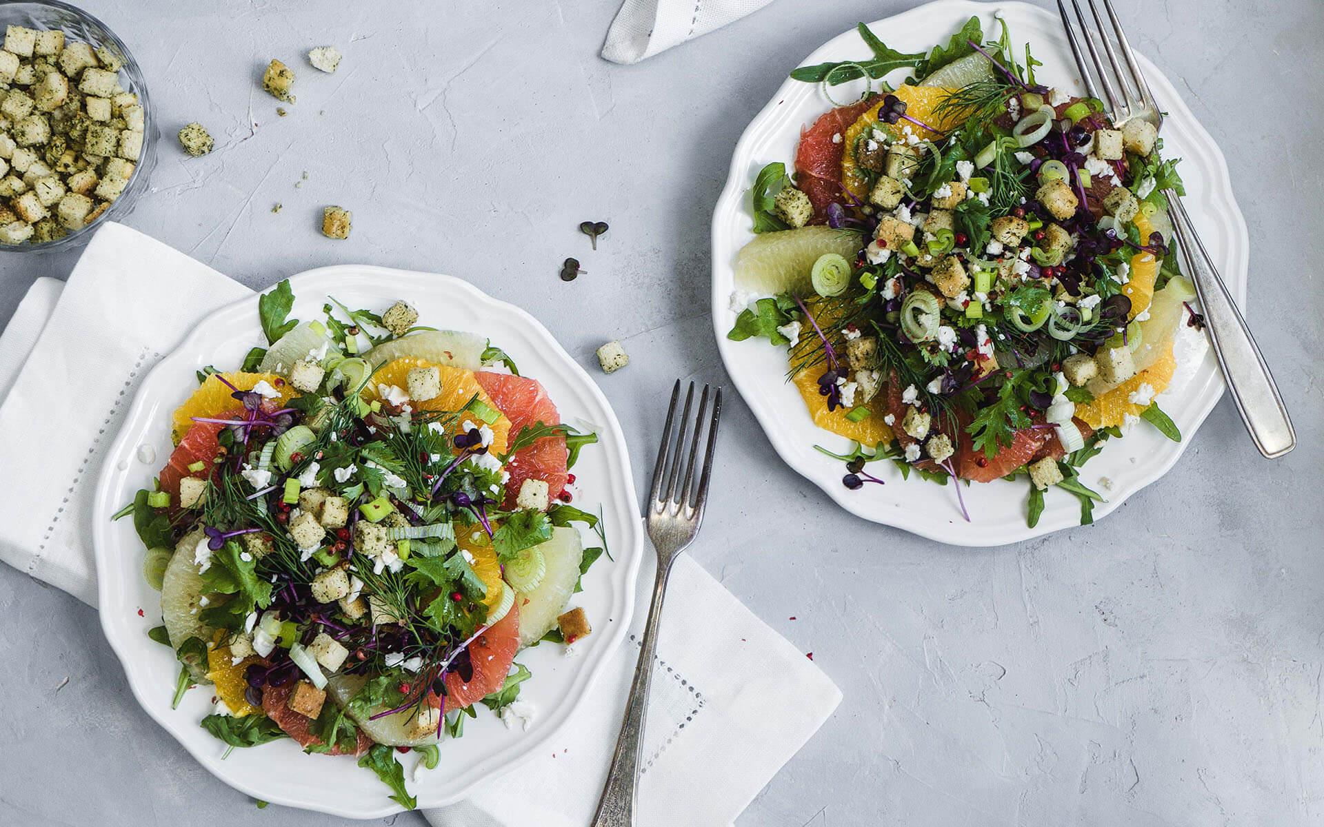 Zitrus-Kräuter-Salat
