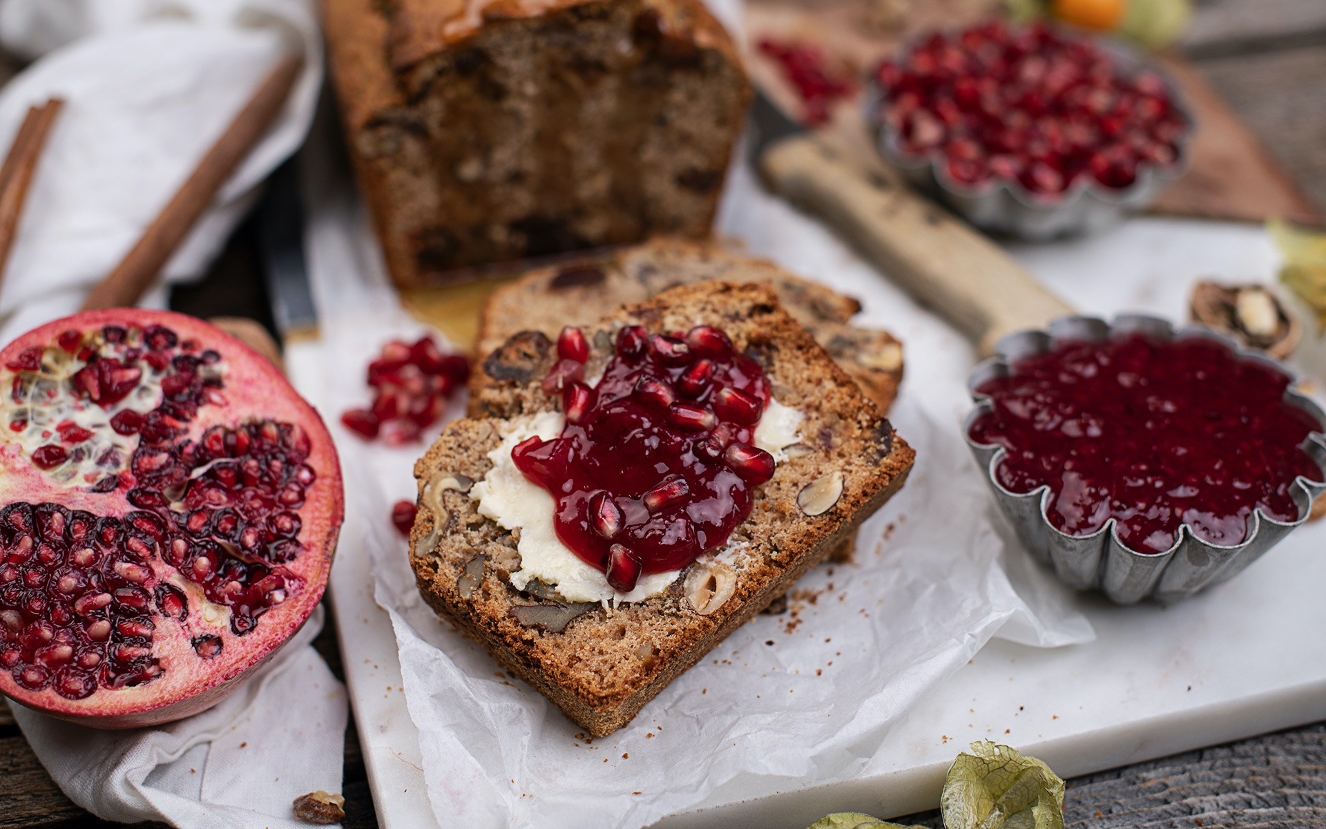 Healthy date nut bread